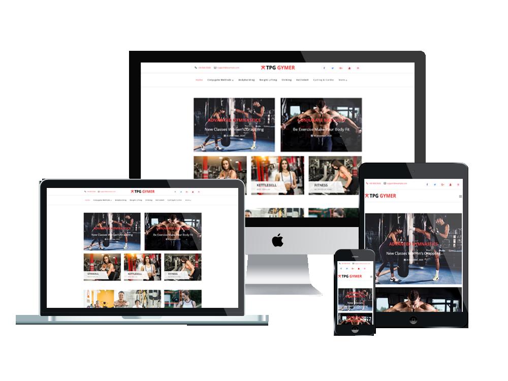 TPG Gymer– Best Premium Responsive WordPress Fitness theme 2