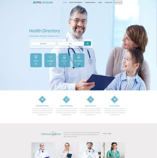 TPG Medilink – Best Premium Responsive Hospital WordPress theme 2