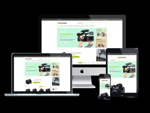 WS Dirax – Digital Cameras Woocommerce WordPress theme 1