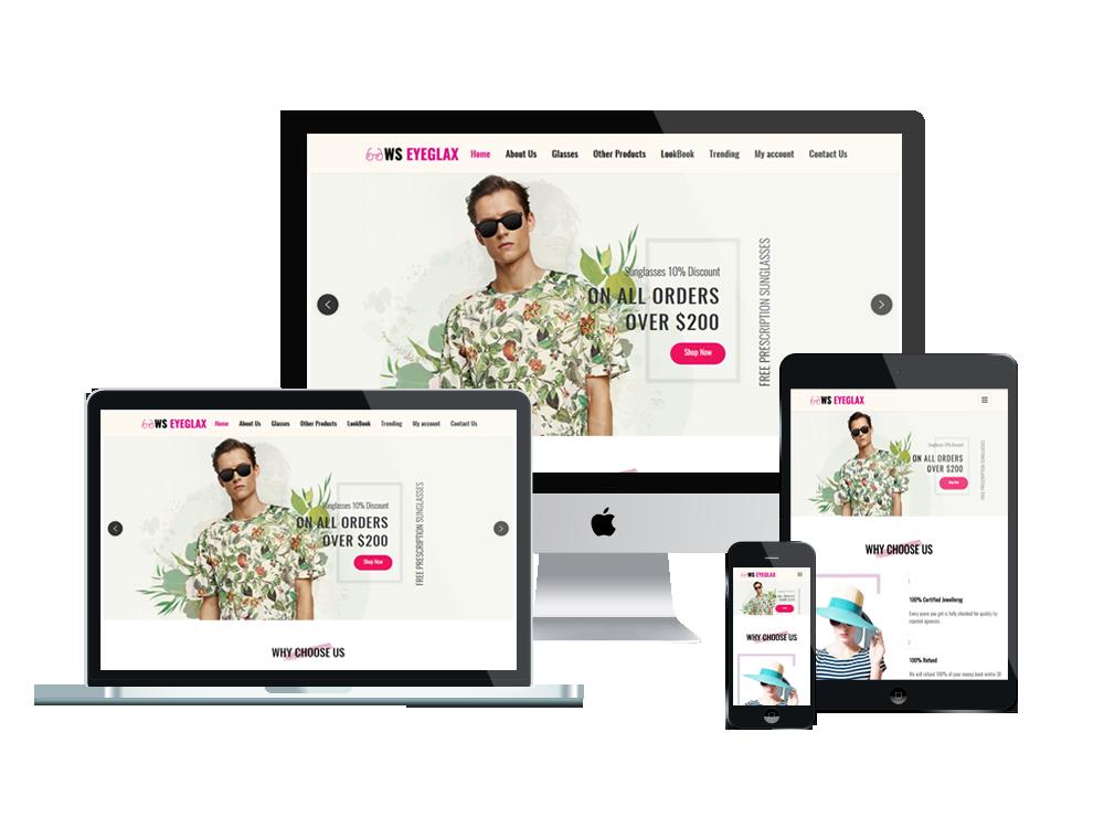 WS EyeGlax – Premium Fashion & Accessories WordPress theme 2