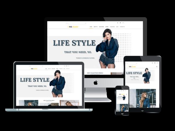 WS Jeans – Premium Clothing wordpress theme 1