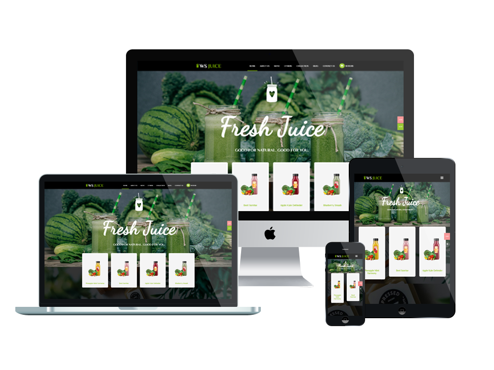 WS Juice – Premium Smoothie Website Template 2