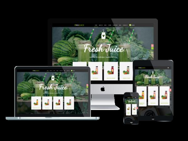 WS Juice – Premium Smoothie Website Template 1