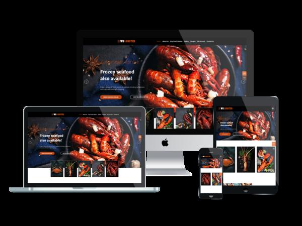 WS Lobster – Premium Restaurant WordPress themes / Seafood WordPress theme 1