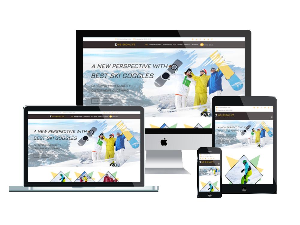WS Snowlife – Snowboarding Clothing Stores WooCommerce WordPress theme 3