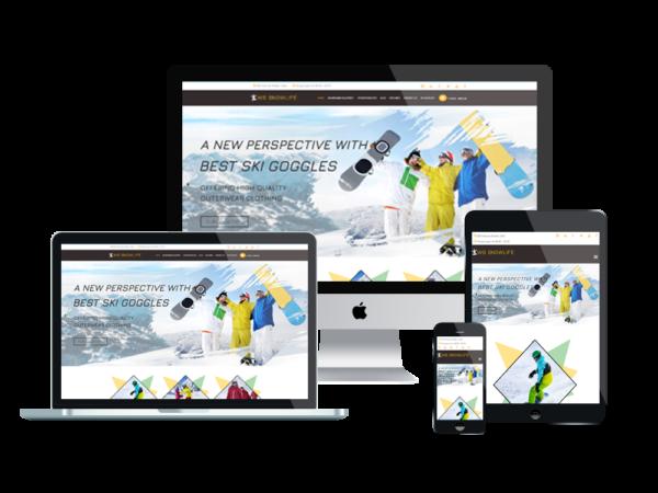 WS Snowlife – Snowboarding Clothing Stores WooCommerce WordPress theme 1