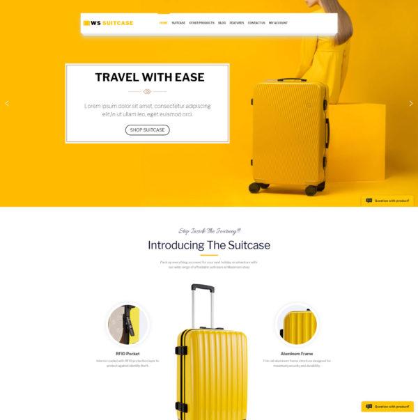 WS Suitcase – fashion wordpress themes 2