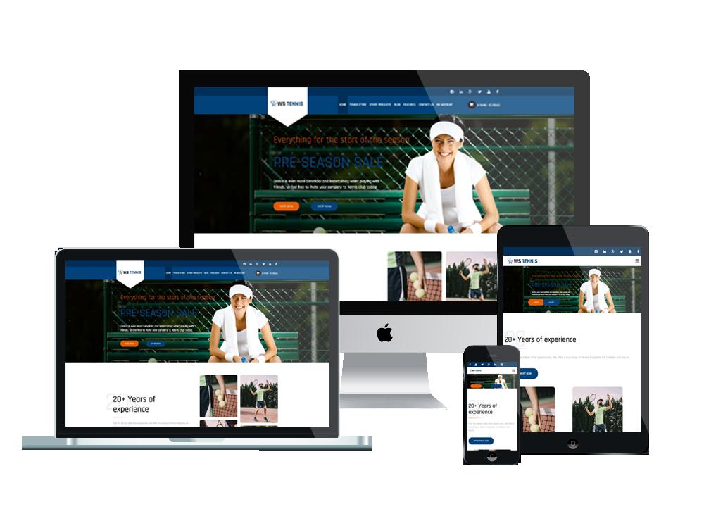 WS Tennis – Sport WordPress theme 3